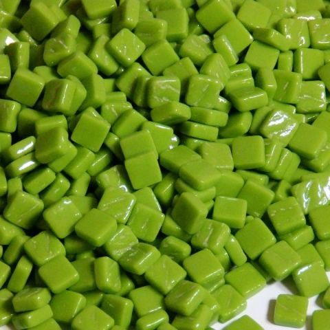 8mm Square Tiles - Green Grass Gloss - 50g